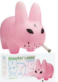 "Smorkin' Labbit 10"" Clear Pink Vinyl Figure - Frank Kozik"