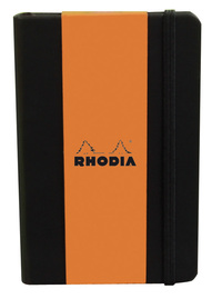 Webnotebook A6 Leatherette with Elastic Closure (Black)