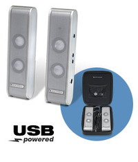 Altec Lansing XT1 2.0 Portable USB Speaker System (Silver) image