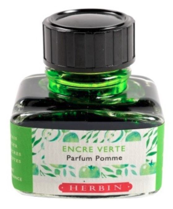 J Herbin: Scented Ink - Green with Apple Scent (30ml)