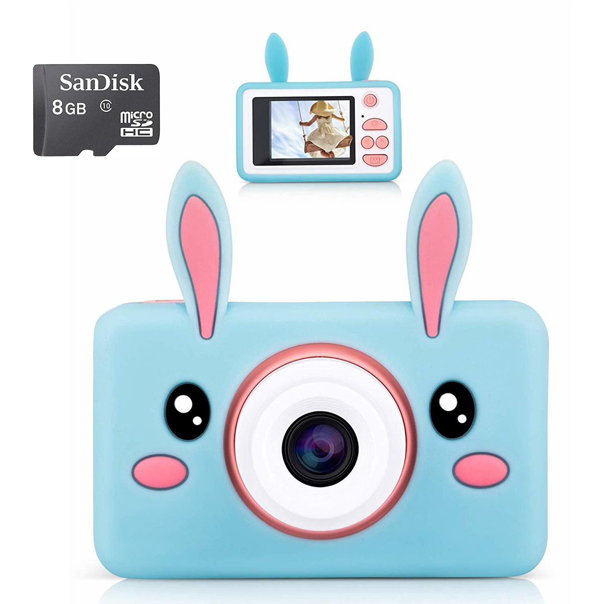 Kids Digital Camera 1080P - Blue Rabbit image
