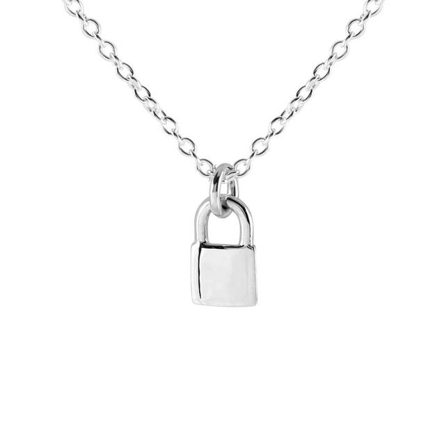 Midsummer Star: Lock Me Up Necklace - Silver