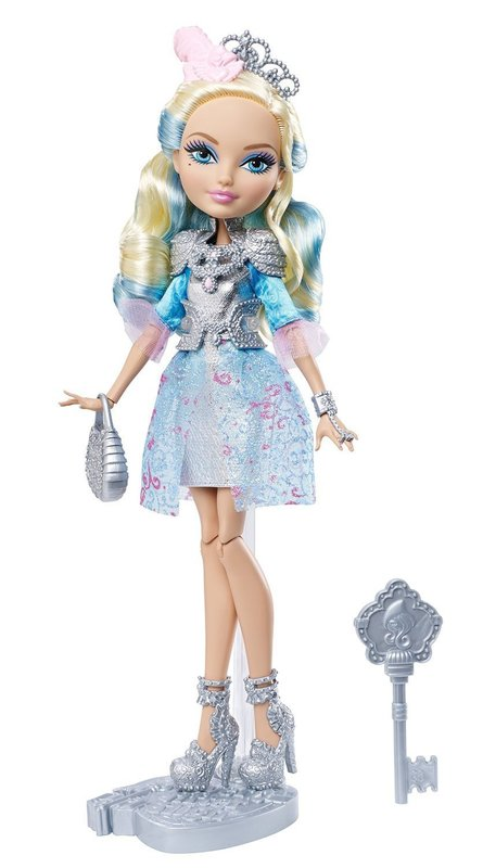 Ever After High Darling Charming Rebel Doll in Silvery Dress with Accessories