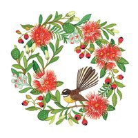 Christmas Wreath - Square Greeting Card