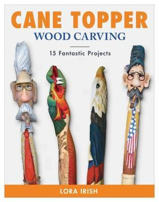 Cane Topper Wood Carving by Lora S. Irish image