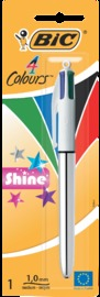 Bic: 4 Colour Pen - Metallic Shine w/ Assorted Barrel (Single)