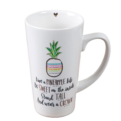 Natural Life: Latte Mug - Live A Pineapple Life