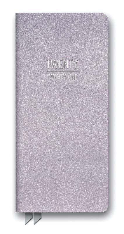 Orange Circle Studio: Leatheresque Jotter Agenda 2021 - Lilac Shimmer