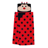 Aroma Home Cosy Up Hooded Blanket - Ladybird