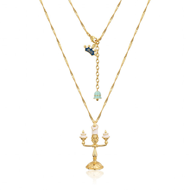 Disney Beauty & The Beast Lumiere Necklace - Gold