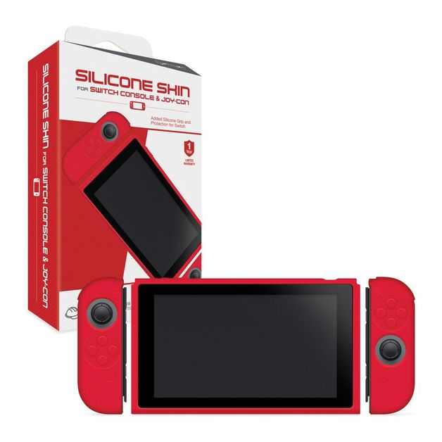 Hyperkin Console and Controller Silicone skins for Switch - Red for Nintendo Switch