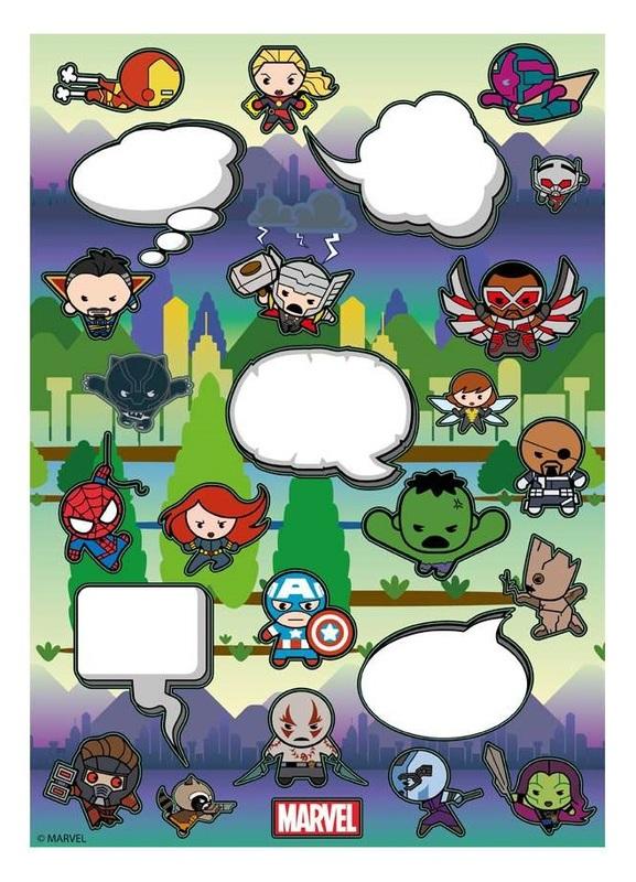Marvel: Avengers Kawaii - Fridge Magnet Set