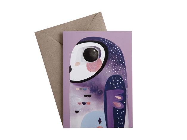 Pete Cromer: Greeting Card - Owl