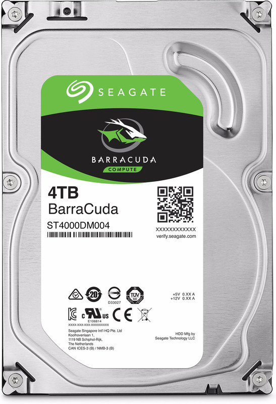 "4TB Seagate BarraCuda 3.5"" 5400RPM SATA HDD"