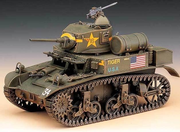 Academy U.S. M3A1 Stuart Light Tank 1/35 Model Kit