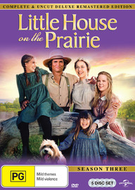 Little House On The Prairie - Season Three Digitally Remastered Edition (5 Disc Set) on DVD