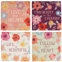Watercolour Floral Coaster Set