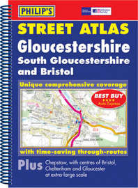 Philip's Street Atlas Gloucestershire and Bristol image