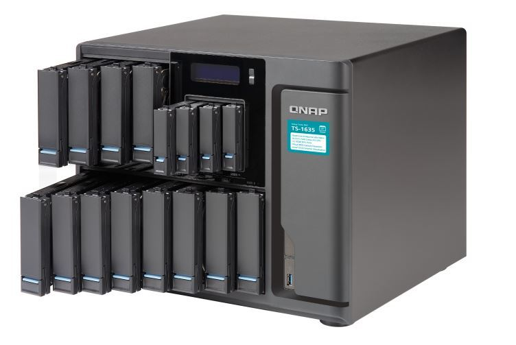 QNAP TS-1635-4G NAS,12+4 BAY(NO DISK),4GB,ARM CORTEX-A15,GbE(2),10GbE SFP+(2),USB,TWR,2YR image