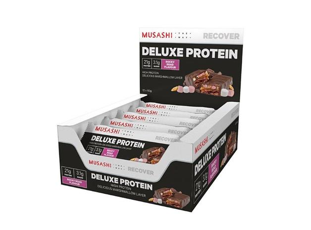 Musashi: Deluxe High Protein Bar - Rocky Road (12x60g)