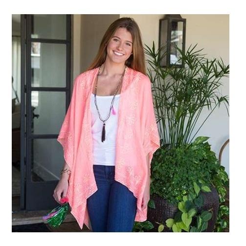 Natural Life: Jamie Kimono - Neon Pink/Pink (One Size)
