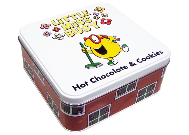 Little Miss Busy Hot Chocolate & Biscuits Tin 220g