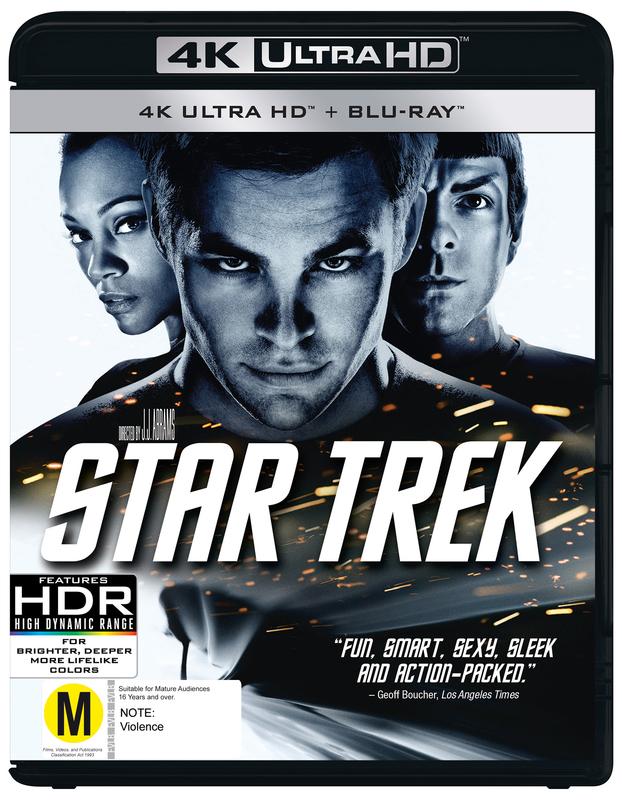 Star Trek XI on Blu-ray, UHD Blu-ray