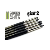 Green Stuff World Colour Shapers Brush Size 2: Black Firm Set