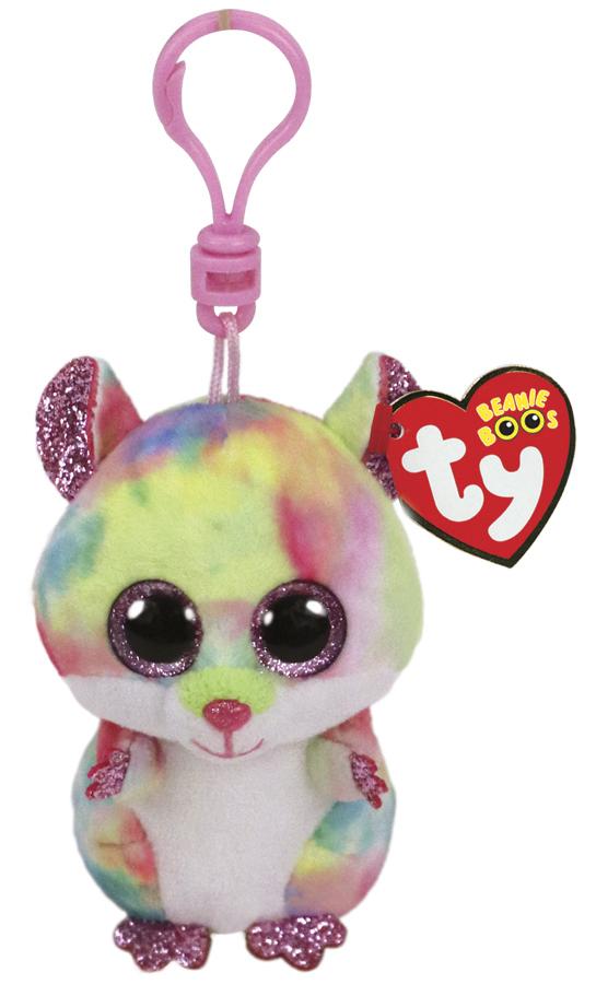 TY Beanie Boos: Rainbow Hamster - Clip On Plush image