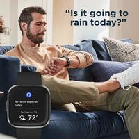 Fitbit Versa 2 Health & Fitness Smartwatch - Black/Carbon
