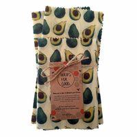 Beeswax Wraps Reusable Food Wrap - Avocados