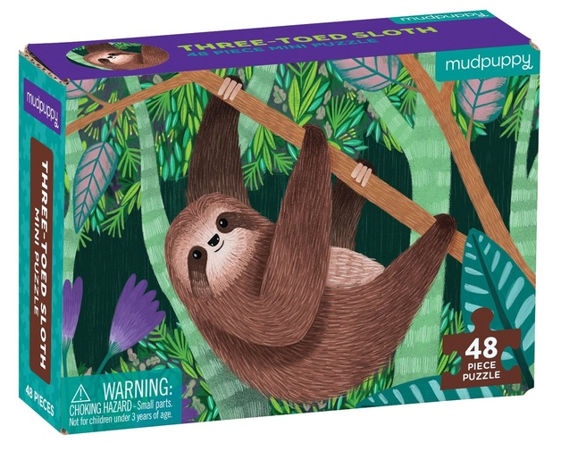 Mudpuppy: Three-Toed Sloth - Mini Puzzle
