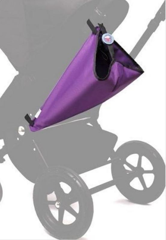 Elephant & Apple Stroller Bag - Purple