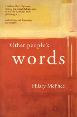 Other People's Words by Hilary McPhee image