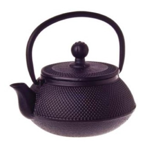 Black Hobnail Cast Iron Teapot (500ml) image
