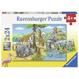 Ravensburger: Welcome to the Zoo - 2x24pc Puzzle