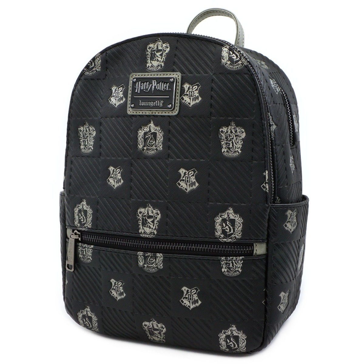 Loungefly: Harry Potter - Black Debossed Mini Backpack image