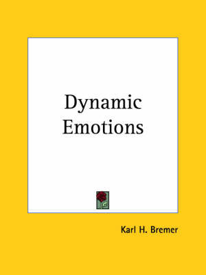 Dynamic Emotions (1928) by Karl H. Bremer