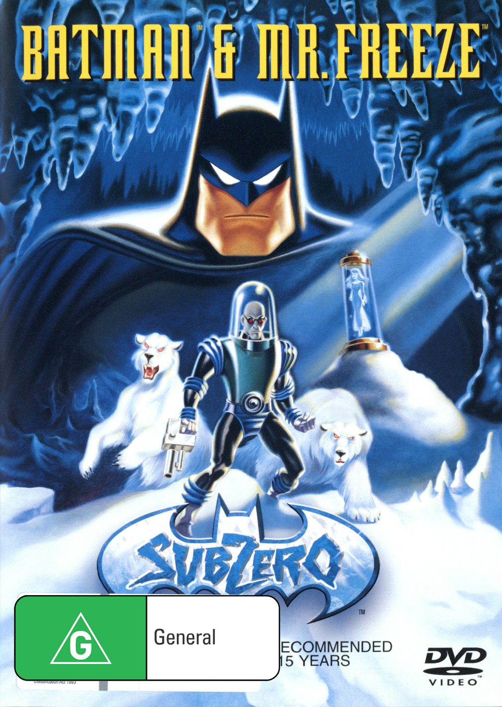 Batman and Mr Freeze on DVD image