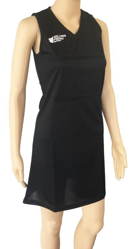 Silver Fern: Netball Dress - 3XL (Black)