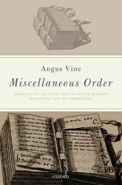 Miscellaneous Order by Angus Vine