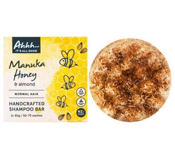 Ahhh Soaps: Shampoo Bar - Manuka Honey and Almond (60g)