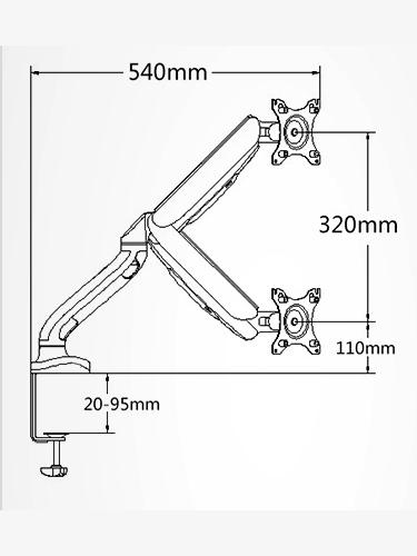 Gorilla Arms Single Gas Spring Powered Monitor Mount image