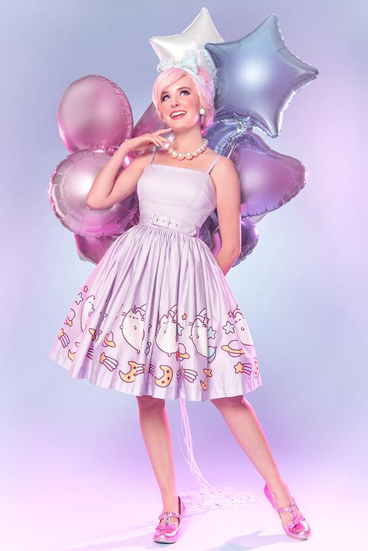 Sarsparilly: Super Pusheenicorn Fit & Flare Dress - M