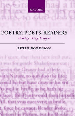 Poetry, Poets, Readers by Peter Robinson image