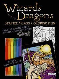 Wizards and Dragons Stained Glass Coloring Fun by Eric Gottesman image