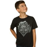 Minecraft Heroes Crest Youth T-Shirt (Large)