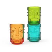 Tiki Trio Shot Glasses in Assorted Colors