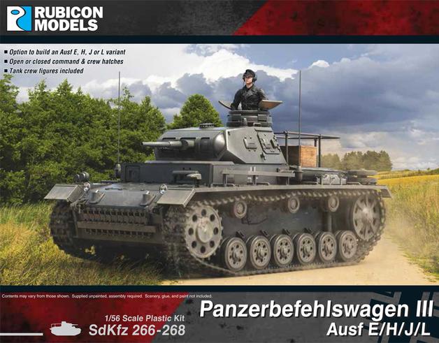 Rubicon 1/56 Panzerbefehiswagen III Ausf E/H/J/L