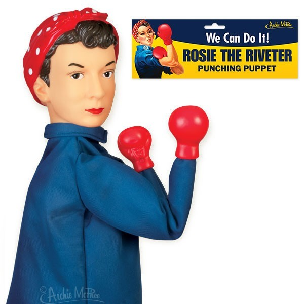 Rosie The Riveter - Punching Hand Puppet